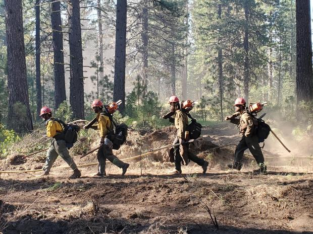 Crew successfully helped carry the fire to 90% containment overnight