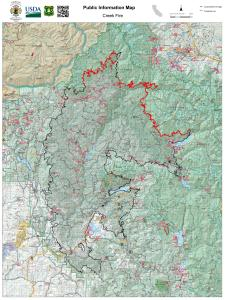 Creek Fire Public Information Map