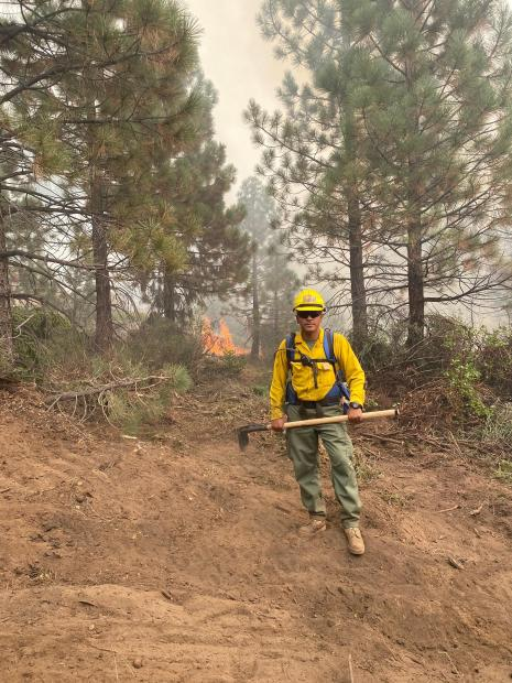 Creek Fire, mop-up near 7 road