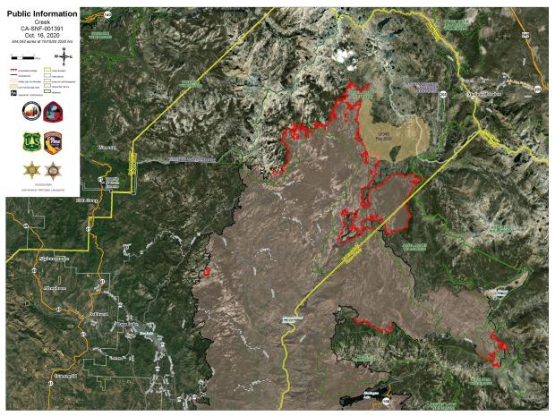 Creek Fire PIO Imagery Map 10.16.20