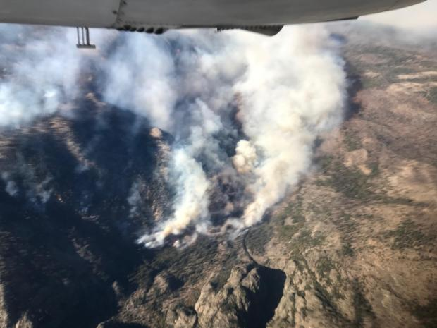 Fire Activity in the Middle Fork and Fish Creek area