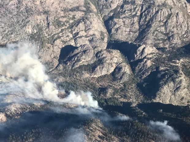 Fire activity in the Middle Fork and Fish Creek areas