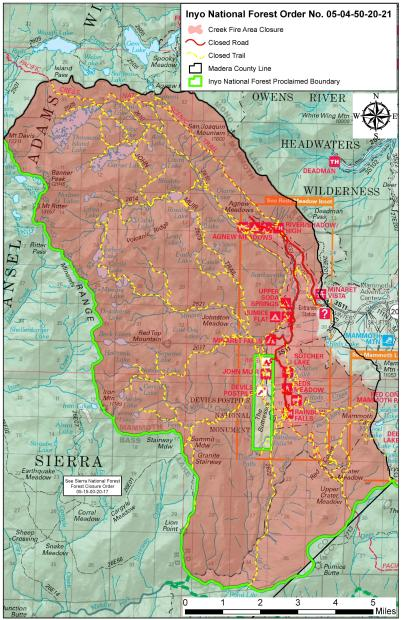 Inyo NF Closure Map for Order No. 05-04-50-20-21