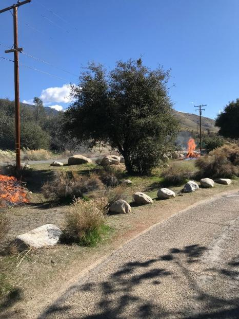 Piles burns within Upper Kern Canyon camping areas