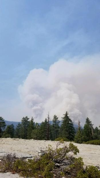 smoke column seen from Dome Roack Sept 16