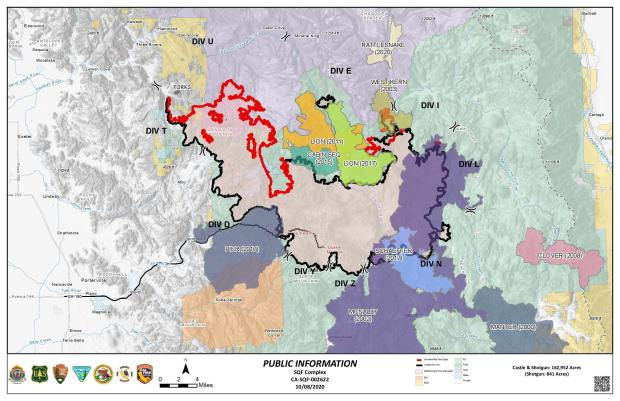 This Map shows the SQF Complex map and previous fire history