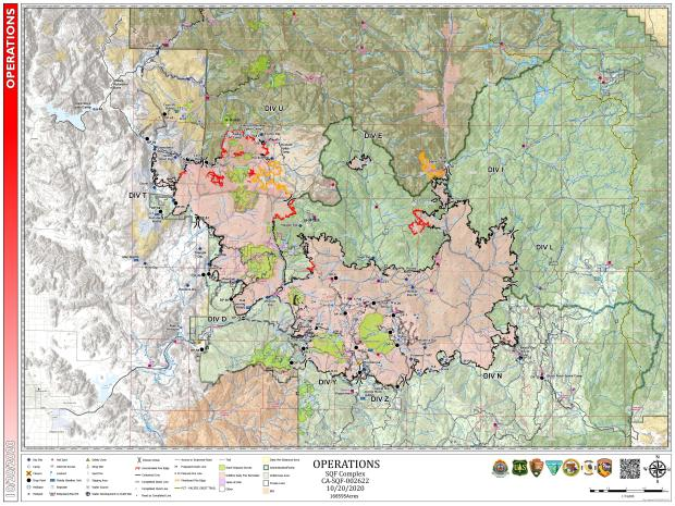 This map show the operational details of the SQF Complex Fire