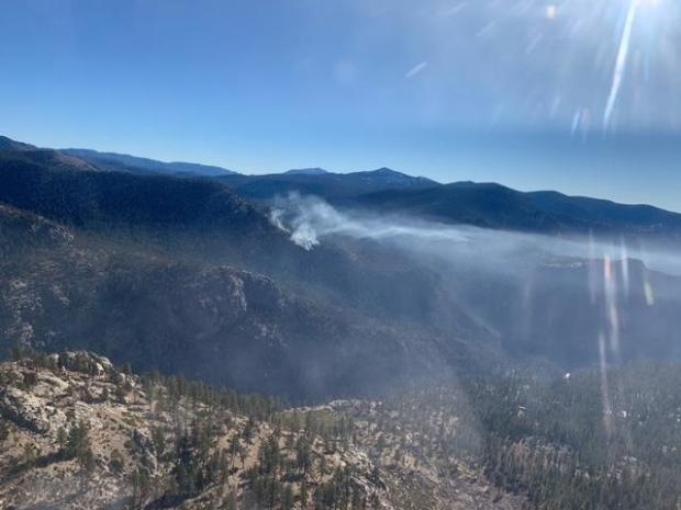 Smoldering pockets of fuel on the Castle Fire