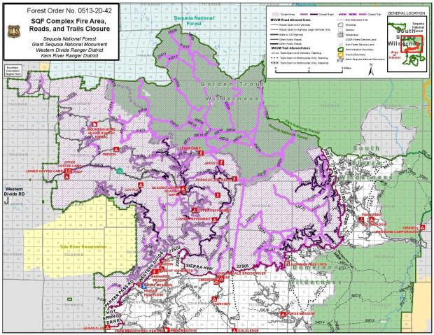 SQF Forest Closure map as of Nov. 30, 2020