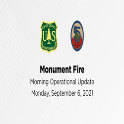One man, from Incident Management Team 5, gives a fire operations update for Sept. 6, 2021.