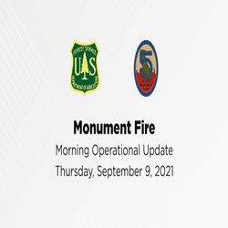 One man, from Incident Management Team 5, gives a fire operations update for Sept. 9, 2021.