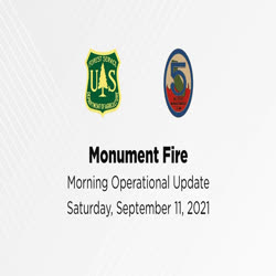 One man, from Incident Management Team 5, gives a fire operations update on Sept. 11, 2021.