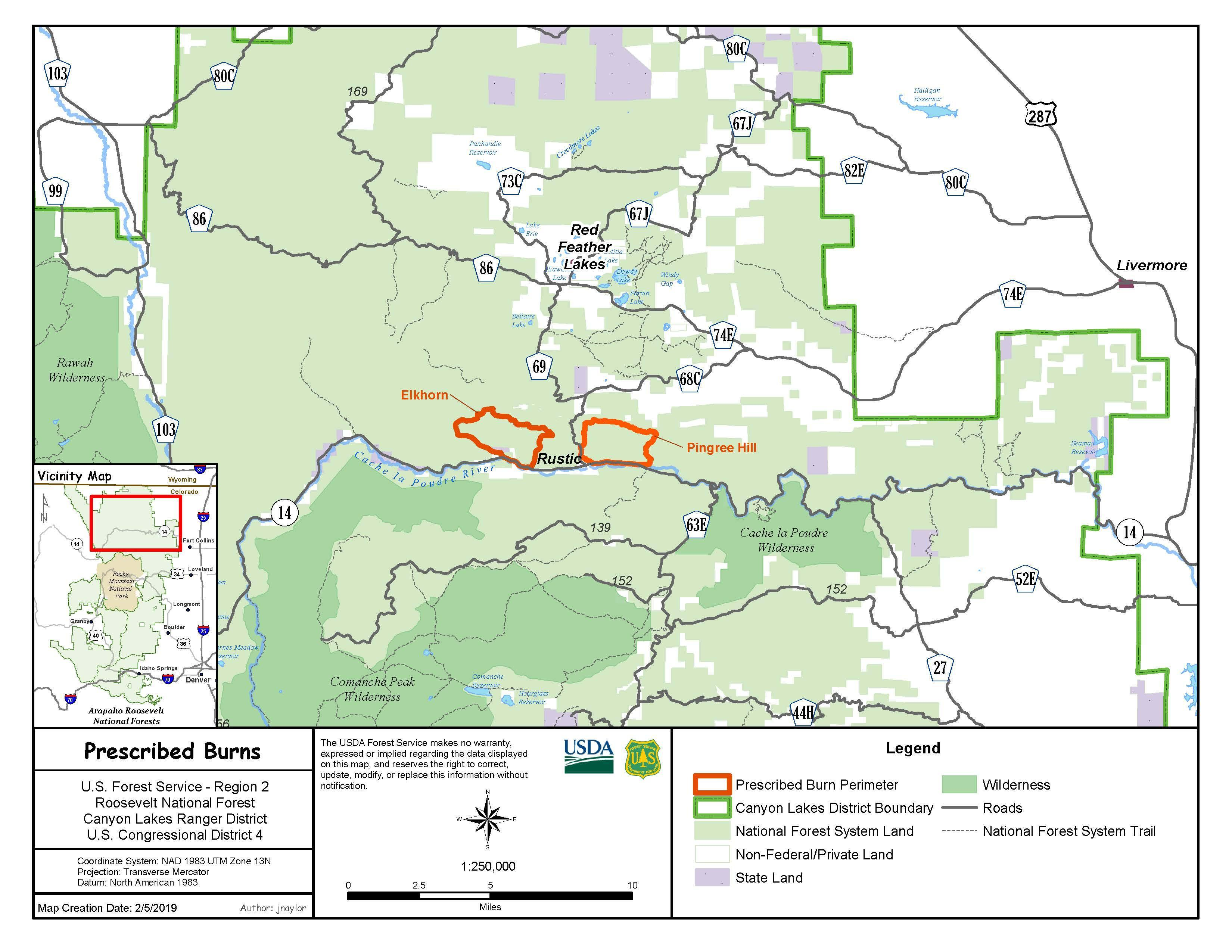 Elkhorn-Pingree Hill Prescribed Burns Information - InciWeb