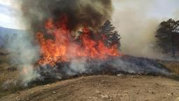 Firefirghters lighting prescribed fire on Pawnee National Grassland March 14, 2017. Controlled burns help improve wildlife habitat and reduce the risks posed by wildfires that burn under more extreme conditions.