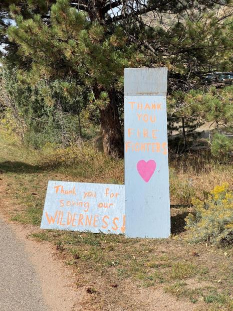 Community Thank You signs along Hwy 14