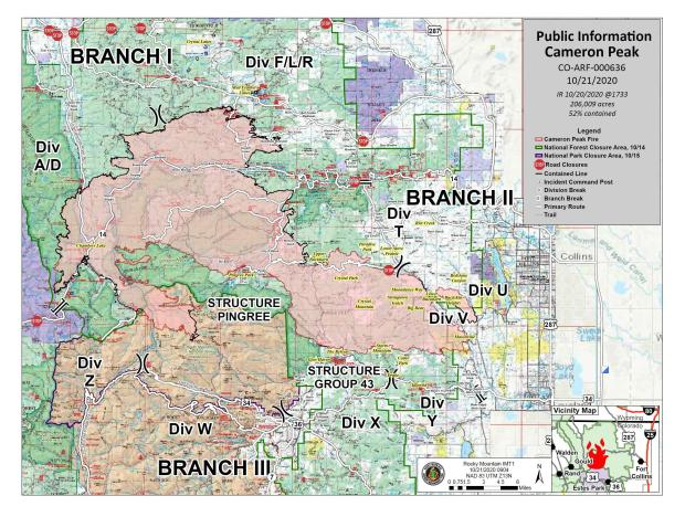 Fire Information Map 10.21.20