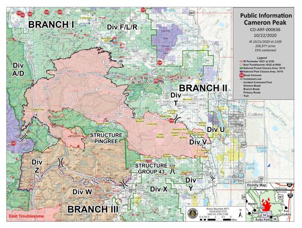 Fire Information Map for 10-22-20
