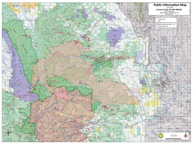 Cameron Peak Fire Map Nov 27 2020