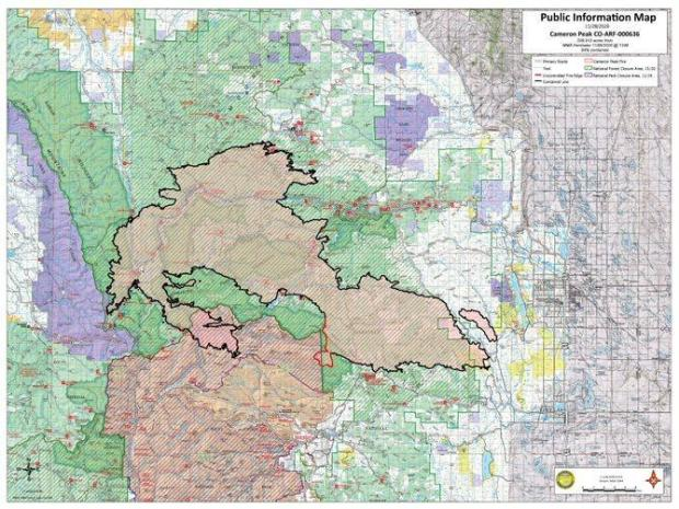 Cameron Peak Fire Map Nov 28, 2020