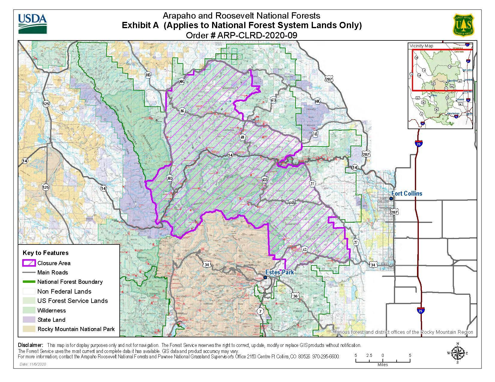 Canyon Lakes Ranger District Special Order Map