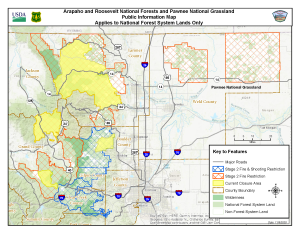 Updated Arapaho & Roosevelt Closure Map
