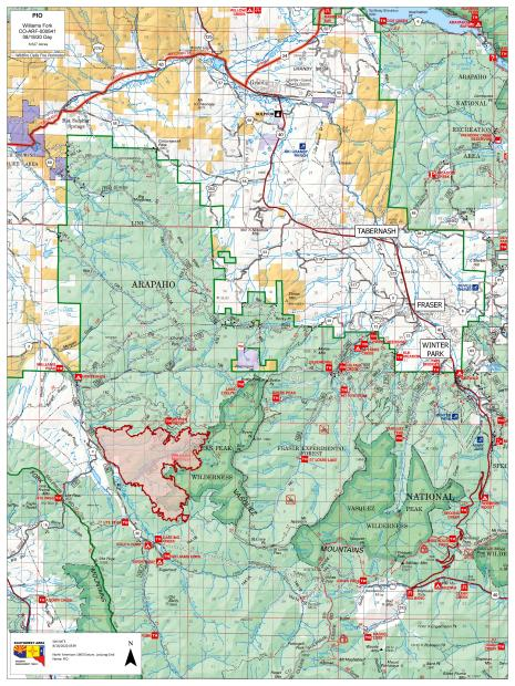 Williams Fork Fire Perimeter Map 8/18/2020