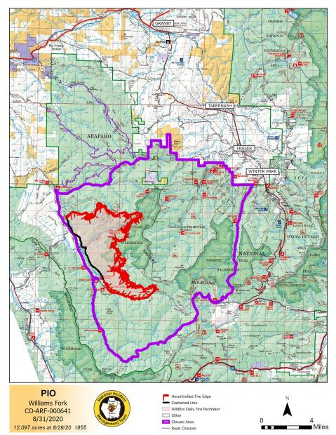August 31 PIO Map 12,097 acres 10% contained