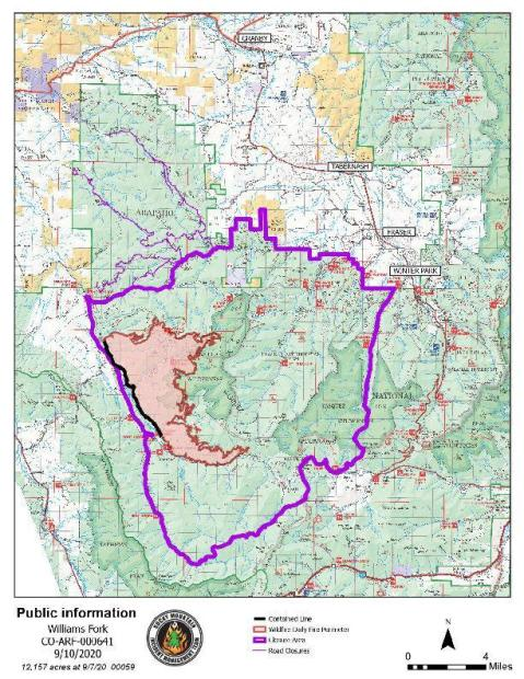 Williams For Fire Map 9-10-20