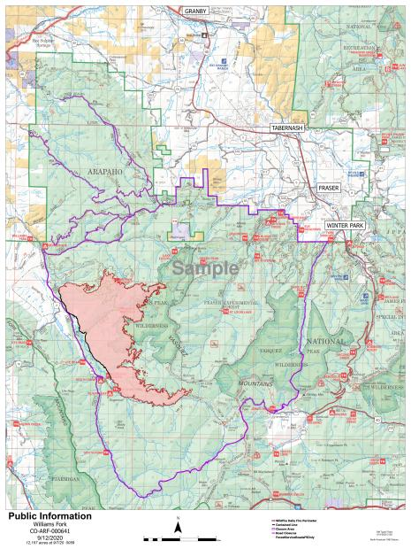 Williams Fork fire map