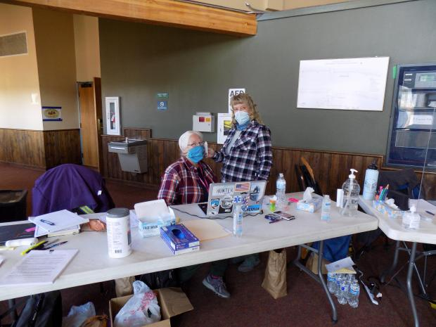 Medics proactively screening for Covid in Fire Camp