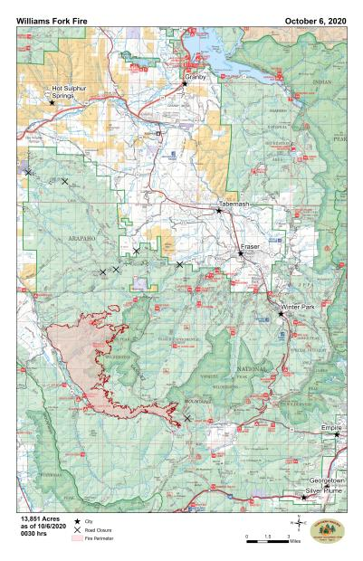 A map of the fire's perimeter