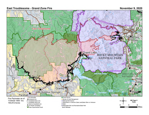 PIO Map East Troublesome Fire Nov 9