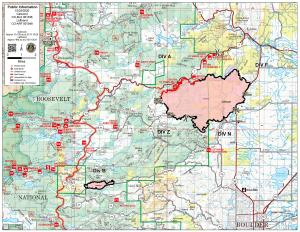 October 25 Calwood and Lefthand Canyon Fire Map