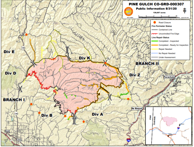 Fire Perimeter and roads to be repaired
