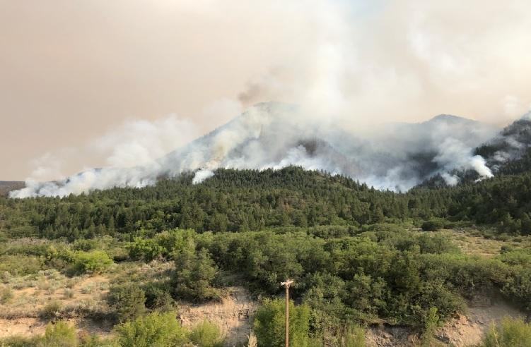 smoke and fire increases