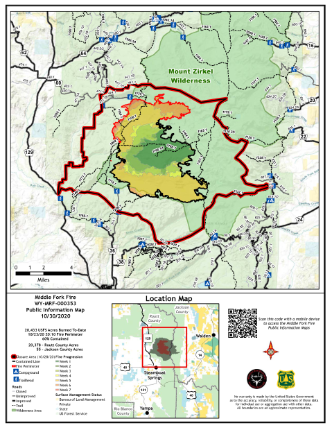10/30/2020 PIO map with fire progression and closure area boundary