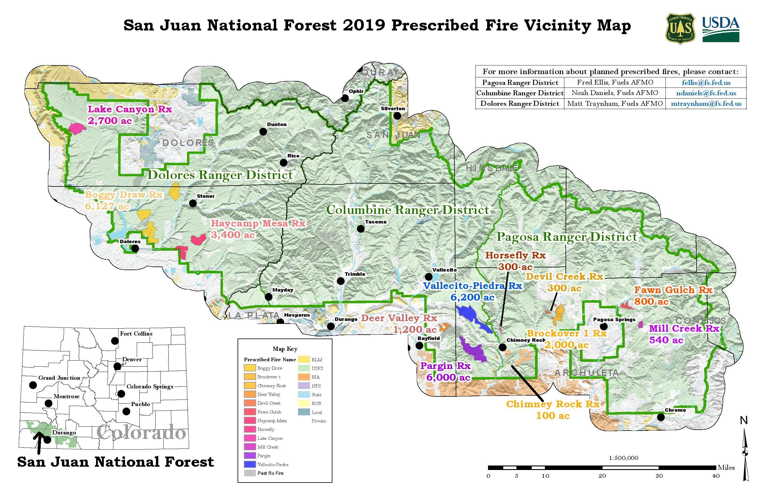 san juan national forest fire map Sjf 2019 Rx Updated Vicinity Map Inciweb The Incident