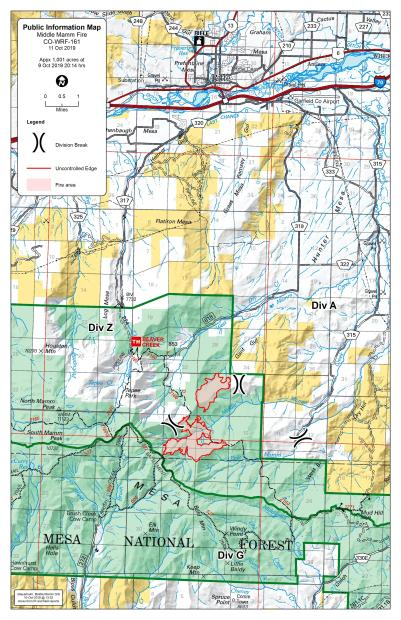 Middle Mamm Fire Perimeter Map