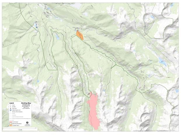Vicinity map of Granite Lake Fire (as of 10/4/19)