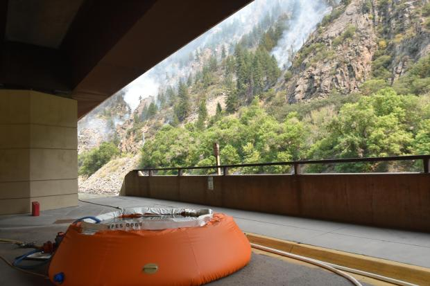 Grizzly Creek Fire Water Pumpkin on I-70