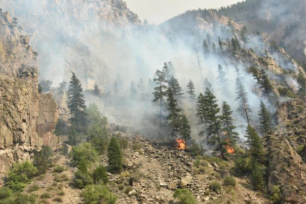 Grizzly Creek Fire I-70