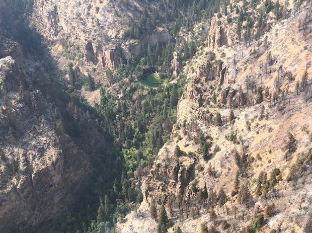 Grizzly Creek Fire Hanging Lake