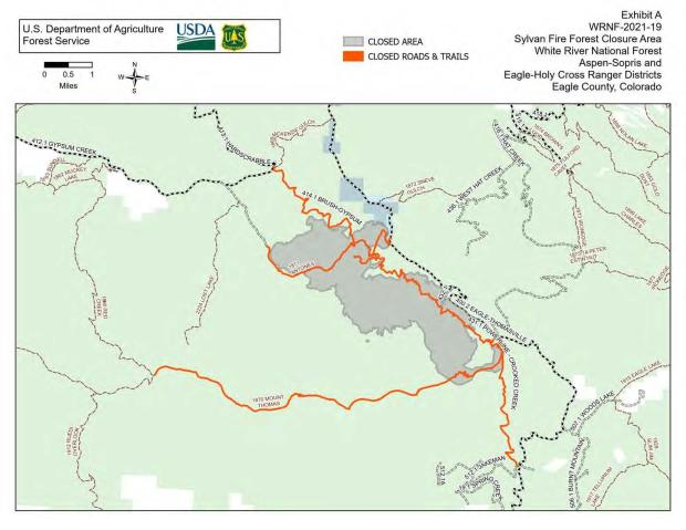 fire area closure map July 7