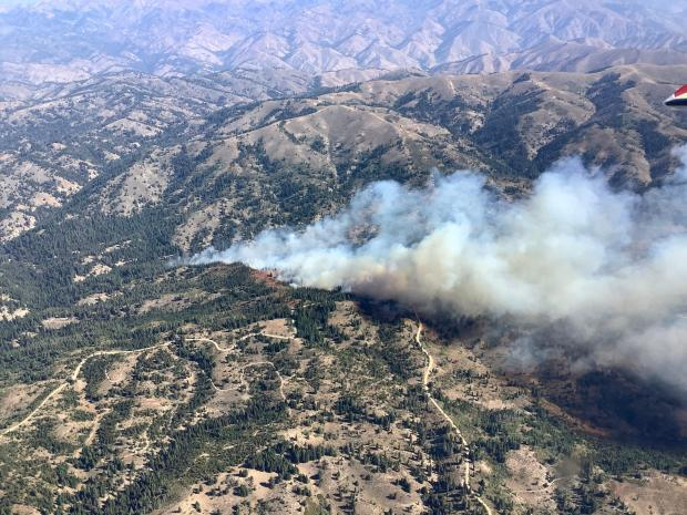 9-7-2020 Grouse Fire - Aerial View