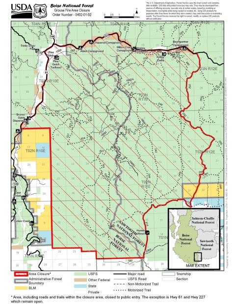 9-8-2020 Grouse Fire closure map