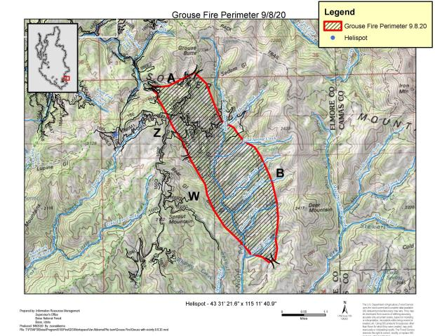9-8-2020 Grouse Fire Peremeter Map