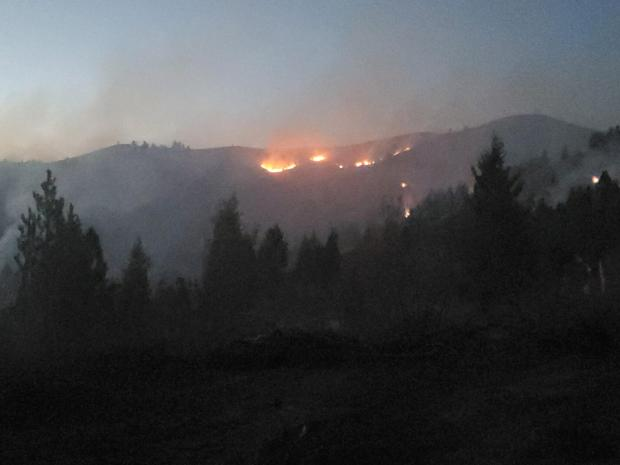 9-12-2020 Landscape of fire burning at night