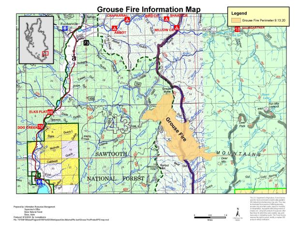 9-13-2020 Grouse Fire Informational  map