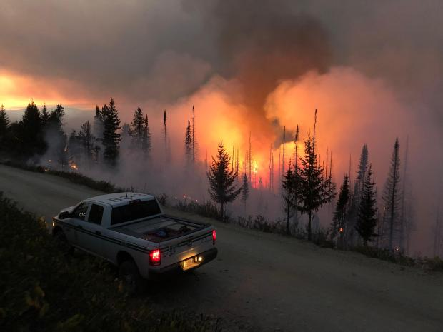 Night operations on the Grouse fire