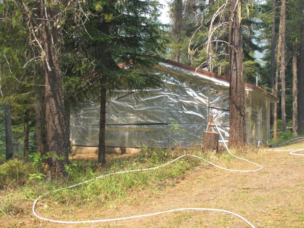 Structural protection at Midget Cabin
